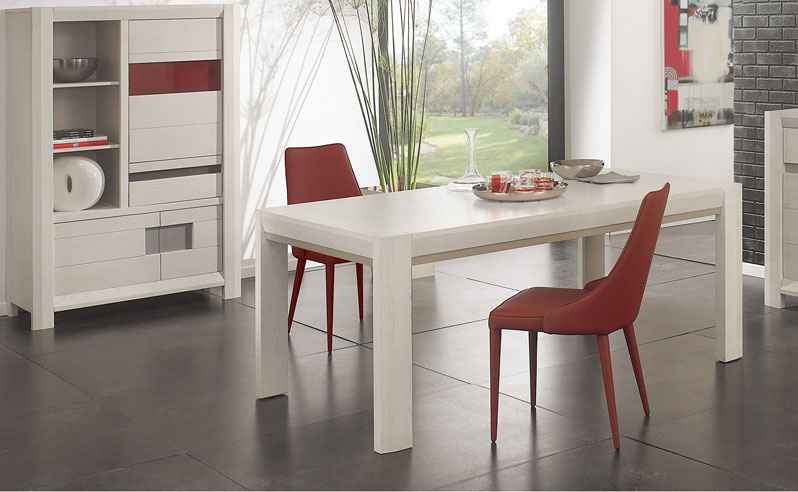 une table de salle manger design par meubles girardeau. Black Bedroom Furniture Sets. Home Design Ideas
